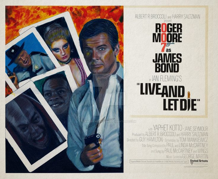 Live and Let Die movie poster by andrewoonline on DeviantArt