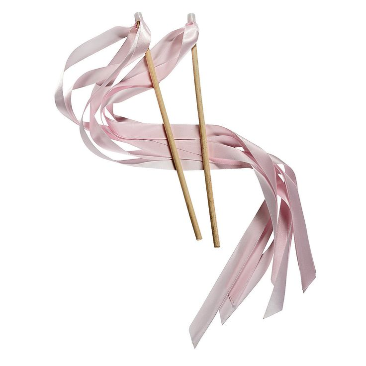 Light Pink Ribbon Wands for goodie bags- OrientalTrading.com