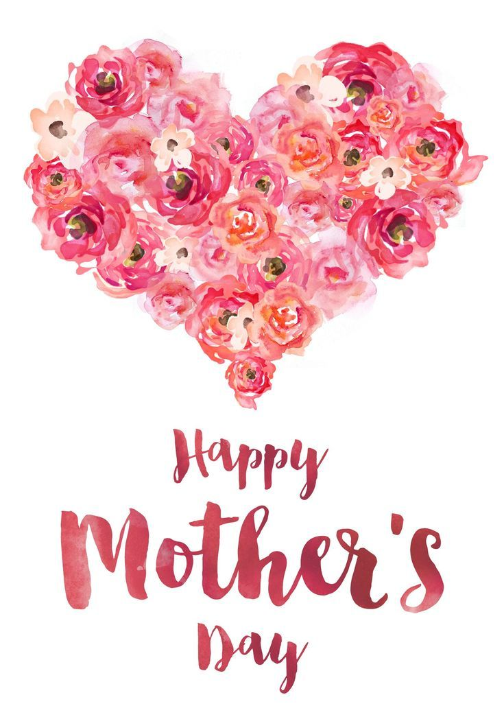 33 Free, Printable Mother's Day Cards She'll Love: Free Happy Mother's Day Card from Ash and Crafts
