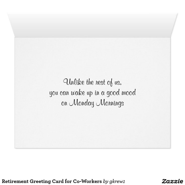 Retirement Greeting Card For Co-Workers