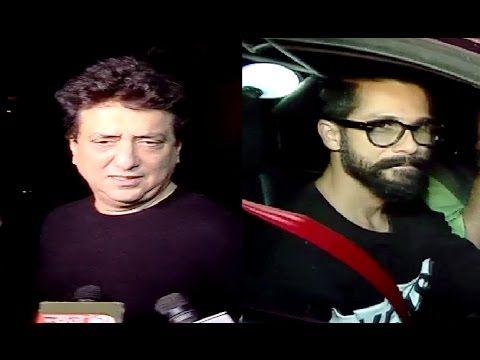 RANGOON movie screening | Shahid Kapoor, Mira Rajput, Sajid Nadiadwala.