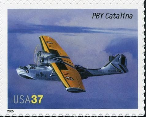 Stamp: PBY Catalina (United States of America) (American Advances in Aviation) Mi:US 3945,Sn:US 3917,Yt:US 3675