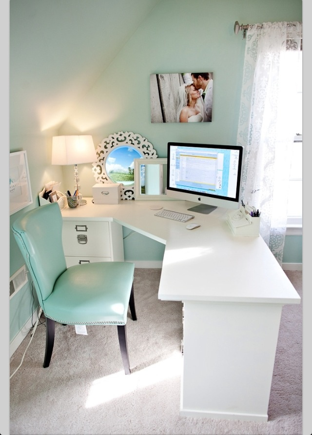 small enough desk for my current space /already have just change color, hardware and use that color of chair ,viola!