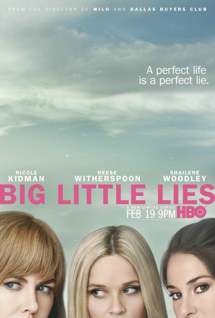 Big Little Lies official key art courtesy of HBO. La vimos con Julio a través de Direct TV.
