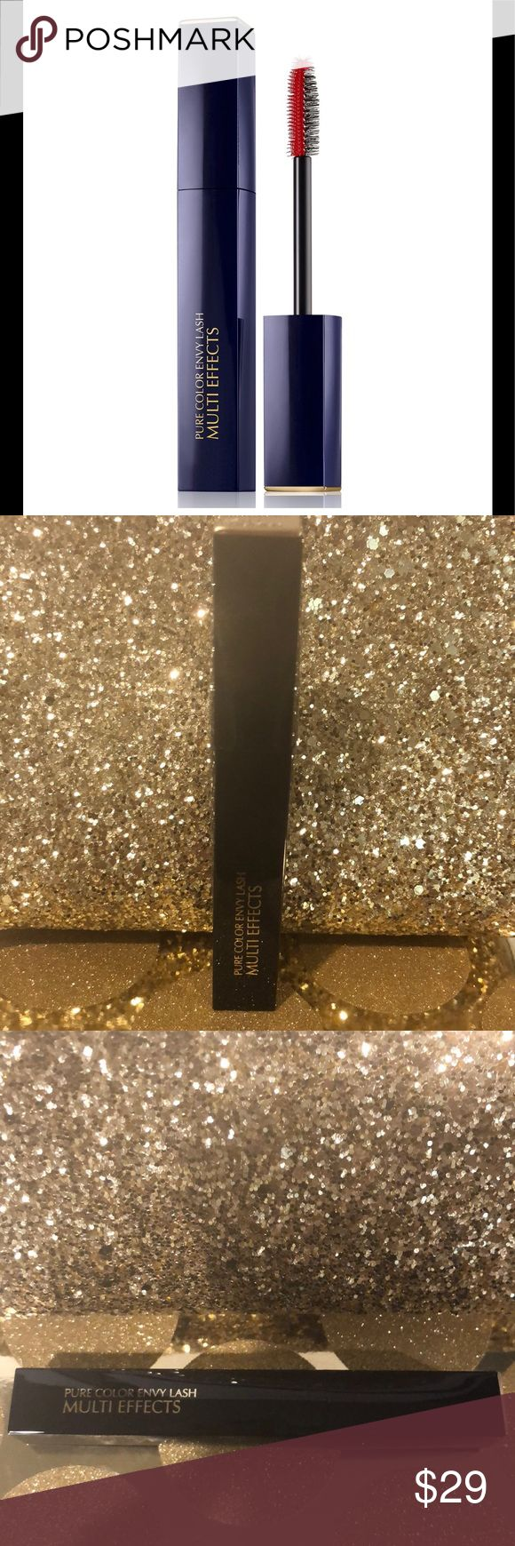 Estee Lauder Pure Color Envy Multi Effects Mascara This exclusive hybrid brush lets you create different lash looks on demand.  The buildable formula means you can dial up the drama throughout the day—and into the night. Conditioning oils keep lashes silky soft, even after you reapply.  NEW & UNUSED.  Awesome mascara one of my favorites!! Thank you for shopping my closet I always give free gifts!!🌸🌸🌸  How to Use: Use the bristle brush for volume and lift. Use the molded brush for length…