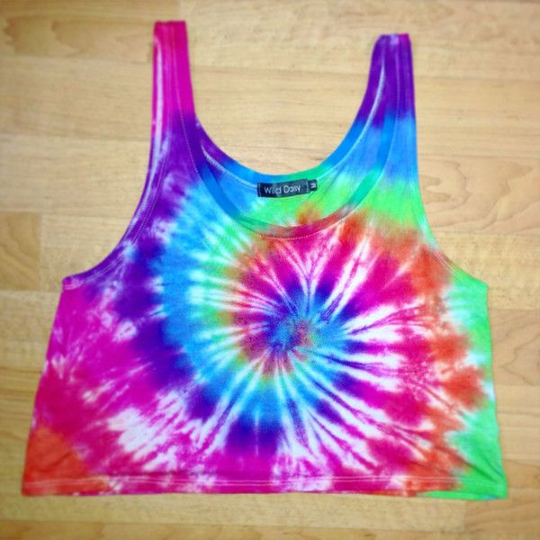 Handmade Rainbow Tie Dye Crop Top ($30) ❤ liked on Polyvore featuring tops, crop tops, light purple, women's clothing, loose fit crop top, cotton shirts, tye dye shirts, tie dye shirts and lavender shirt