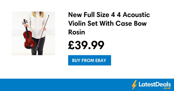 New Full Size 4 4 Acoustic Violin Set With Case Bow Rosin, £39.99 at ebay