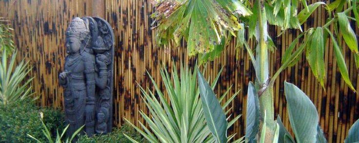 Cebu Bamboo Screens #BamboScreens #BambooFencing #Fencing #Natural #Garden #GardenDecor #Bali #StoneStatue #BaliStatues