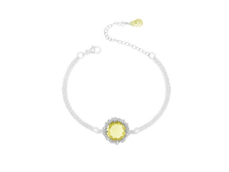 Lemon Quartz Chain Bracelet