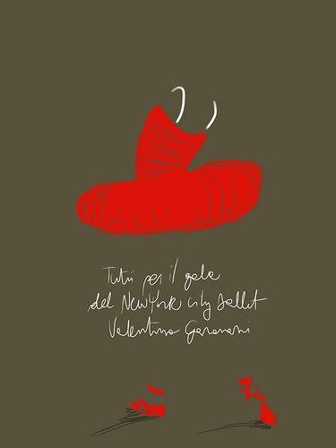 Il Tutù Rosso. #illustration by Open Toe - opentoe.posterous.com |    Sarà in mostra dal 29 Novembre al 3 Marzo alla Somerset House di Londra il tutù rosso disegnato da Valentino Garavani per il gala del New York City Ballet.