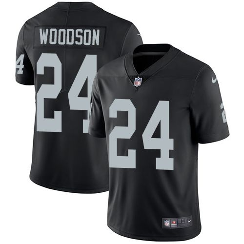 Nike Raiders #24 Charles Woodson Black Team Color Men's Stitched NFL Vapor Untouchable Limited Jersey