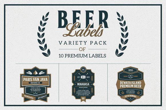 Premium Beer Labels by Rich Graphic on @creativemarket