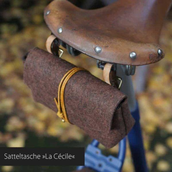 Fahrrad Satteltasche »La Cécile« aus Filz