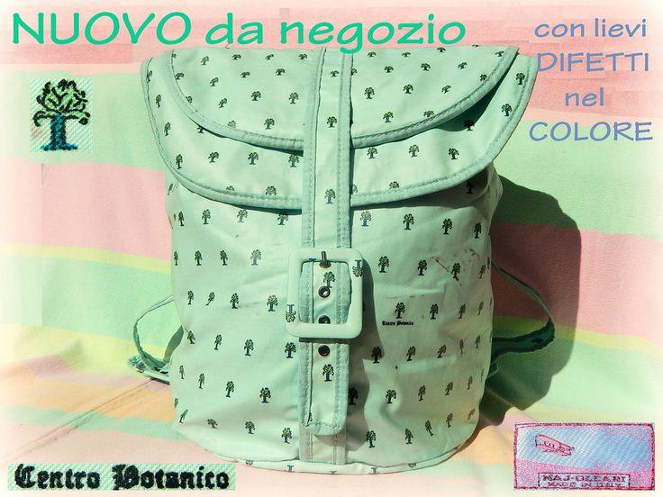 zaino vintage Naj-Oleari Centro Botanico #najoleari - #centrobotanico