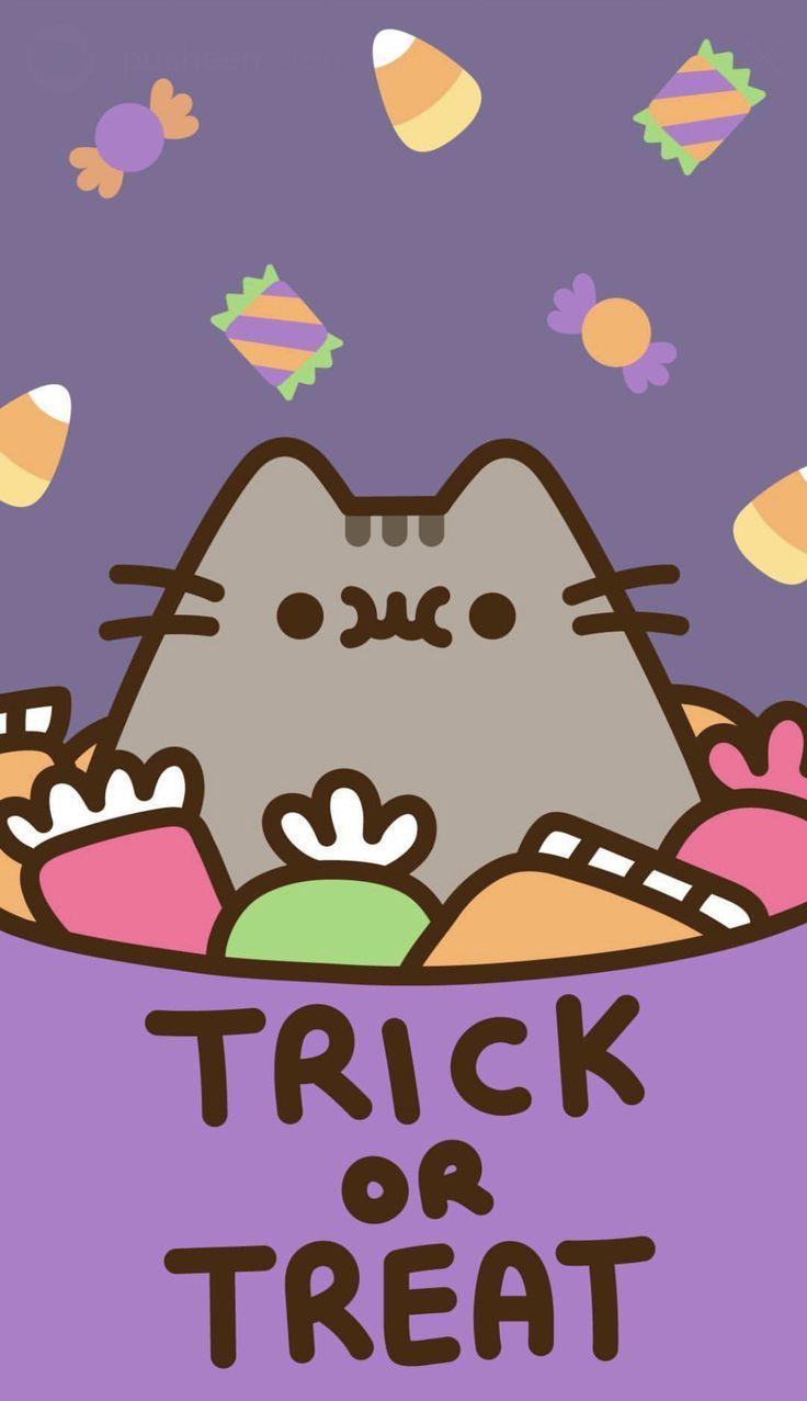 Pusheen Halloween Wallpaper Halloween Wallpaper Halloweenwallpaper Pusheen Cute Pusheen Cat Pusheen