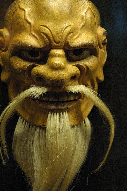 Japanese Noh mask •●