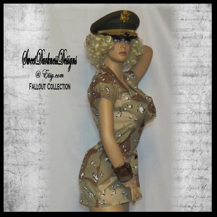 SEXY ARMY COSTUME Sexy Soldier Seductive Camo DressApocalyptic Dress Womens Size 6 to Size 10 Halloween Costume by SweetDarknessDesigns by SweetDarknessDesigns on Etsy