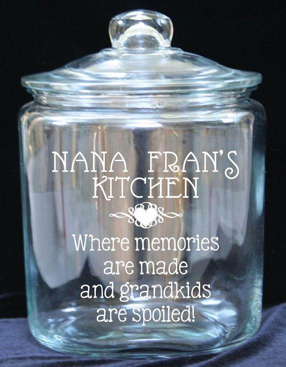 1 Gallon Glass Cookie Jar Custom Imprint What do by JoyousDays  Need Kitchen Decorating Ideas? Go to Centophobe.com | #Kitchen #kitchen decorating ideas