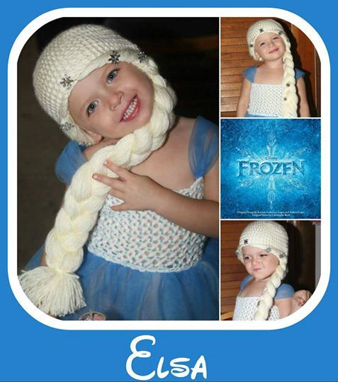 Frozen Elsa Hair Hat by DesignsByVal13 on Etsy, $25.00