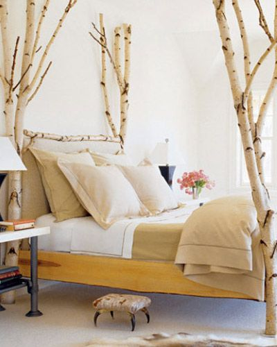 white tree branch bed frame | 16 Crazy Bedrooms That Break The Mold | 16, Bedroom ideas ...
