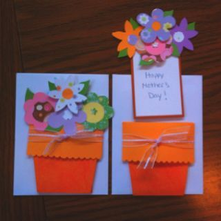 Plant-Pot-Flowers | DIY Mothers Day Card Ideas for Children | Easy Birthday Cards to Make for Mom