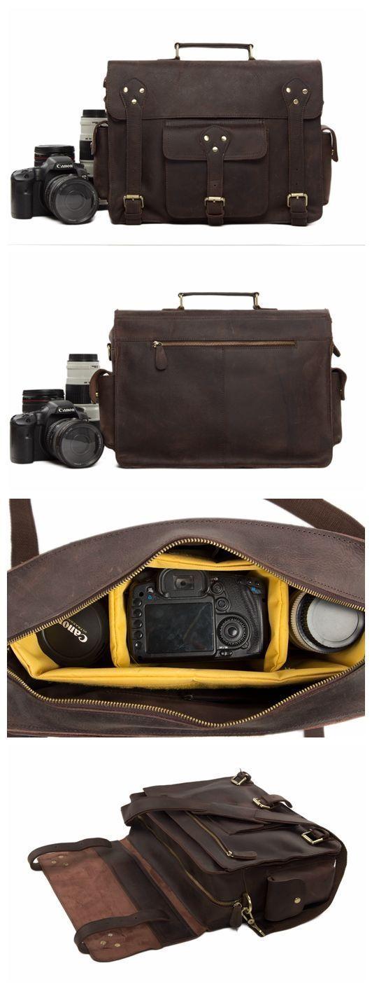 "Genuine Leather DSLR Camera Bag Leather Briefcase Leather Camera Bag For Canon&Nikon 7200 Model Number: 7200 Dimensions: 14.9""L x 4.9""W x 11""H / 38cm(L) x 12.5cm(W) x 28cm(H) Weight: 3.7lb / 1.7kg Har #canoncameras"
