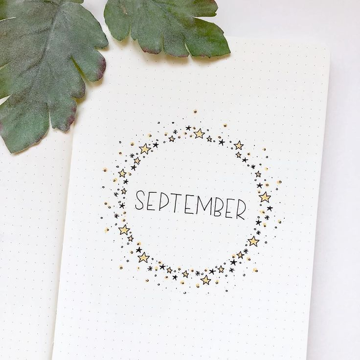 40 September Bullet Journal Cover Pages to Inspire You