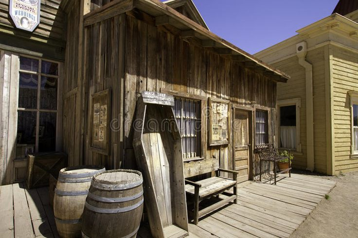 Old Western Town Movie Studio Buildings Stock Photo - Image: 72176025