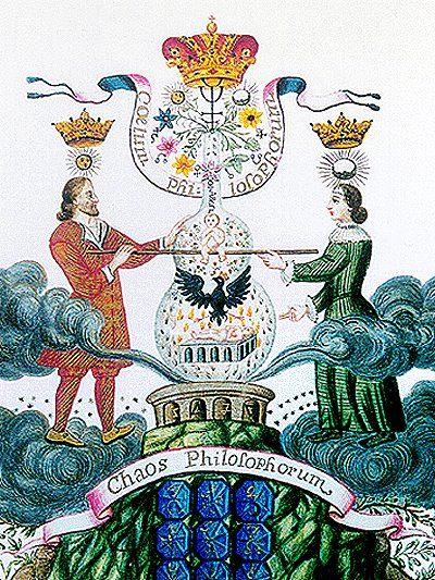 """""""Materia Prima Lapidis Philosophorum,"""" Circolo dell' Oro e Rosacroce,manoscritto ispirato all' Aurea Catena Homeri (Kirchweger, 1781)"""