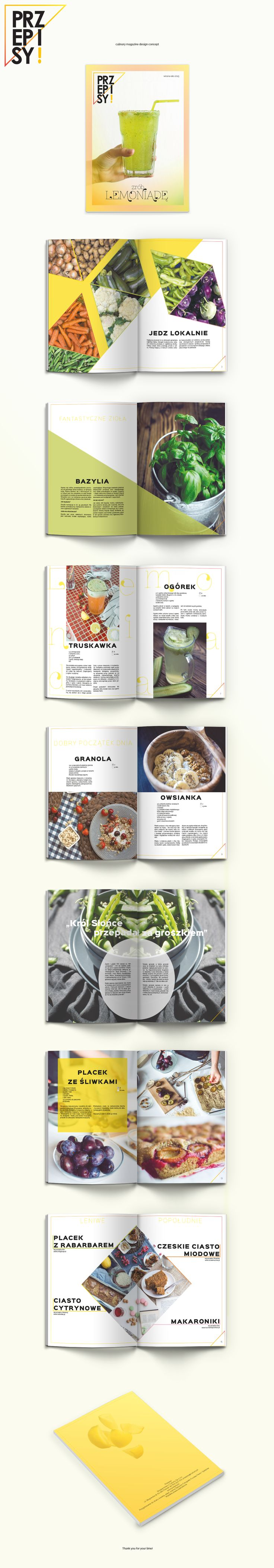 Culinary magazine design concept on Behance
