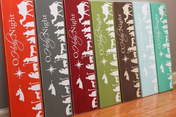 15-pc nativity silhouette VINYL ONLY - for your own sign or plaque or blocks home decor christmas. $25.00, via Etsy.