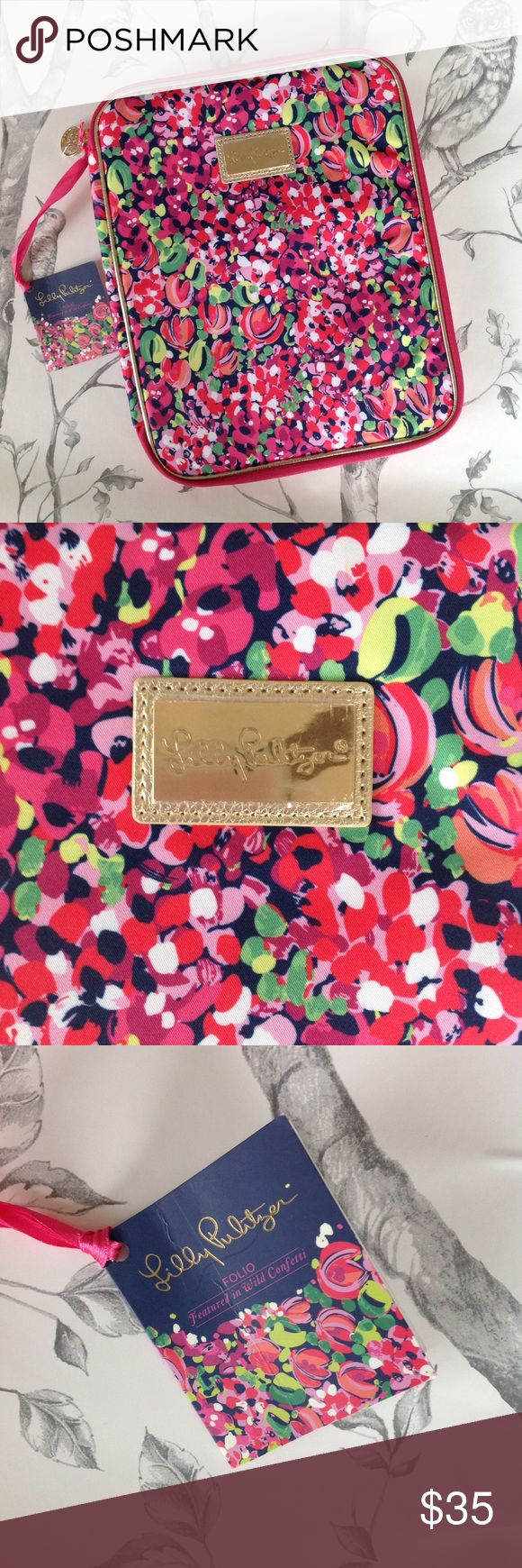 Lily Pulitzer Agenda Folio Wild Confetti Lo and behold this gorgeous NWT Lily Pulitzer Agenda Folio! Perfect for keeping track of your busy, hectic life with eight (count 'em EIGHT!) interior pockets and it has the ability to hold ANY Lily agenda. Feeling bummed? No worries! This Wild Confetti print complete with gold hardware accents is sure to brighten even Eeyore's day! So up your neat-freak game and give this folio a look! Price firm. Lilly Pulitzer Accessories