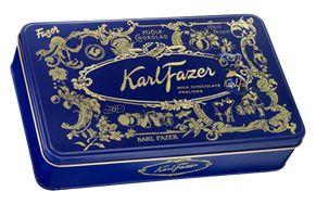 Karl Fazer Milk chocolate praliners in tin box 270 g