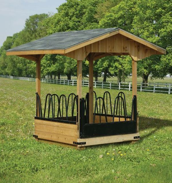 Best 25 horse feeder ideas on pinterest for Hay shed plans