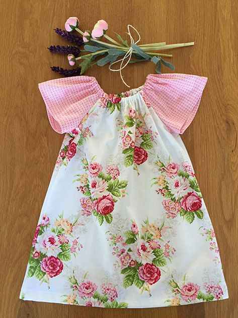 Girls Peasant Dress Size 12 months by HarryandroseDesigns on Etsy