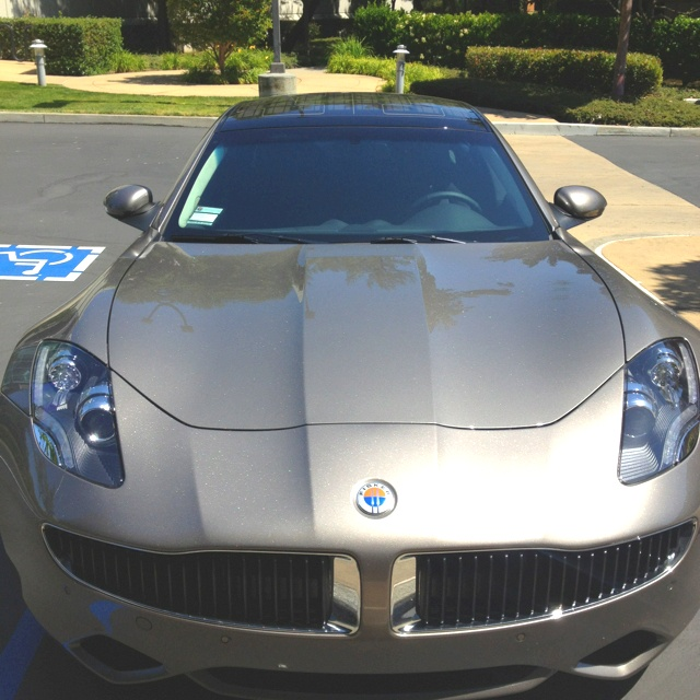 Sitting outside today on break and this pulls up, a Fisker