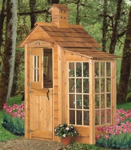 Garden Shed And Accents Plan It's always nice to add a unique touch to your landscaping! This Garden Shed And Accents Plan does just that with its unique birdhouse cupola, over the door birdhouse and