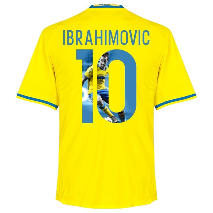 Sweden Home Ibrahimovic Jersey 2016 / 2017 (Gallery Style Printing) - XXXL. 100% Polyester. Player Print - adidas Performance. Yellow.