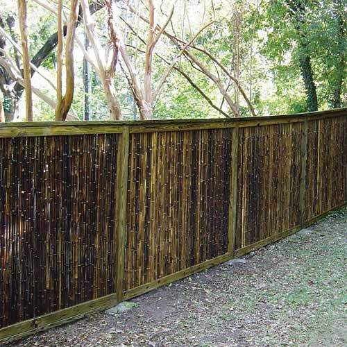 17 best images about black bamboo fencing on pinterest for Easy fence installation