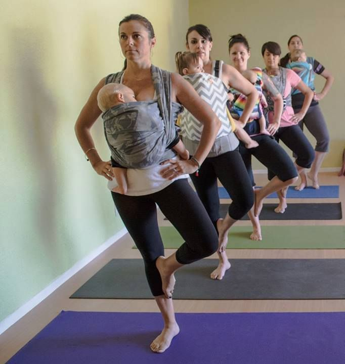 Shala Yoga Center knows how to get their babywearing on!!!
