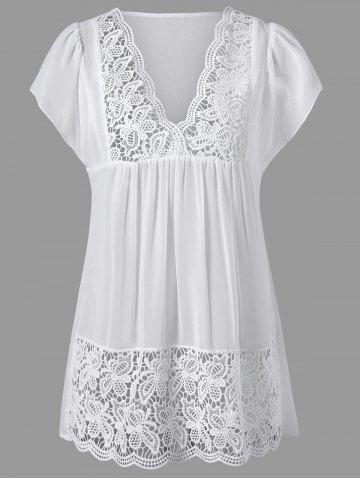 GET $50 NOW | Join RoseGal: Get YOUR $50 NOW!http://m.rosegal.com/blouses/lace-panel-cutwork-smock-blouse-1164035.html?seid=v28ql1qtfcsac886r590kk2o73rg1164035