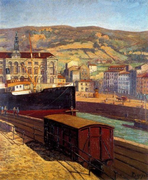 Darío de Regoyos - La Ría de Bilbao (1909)