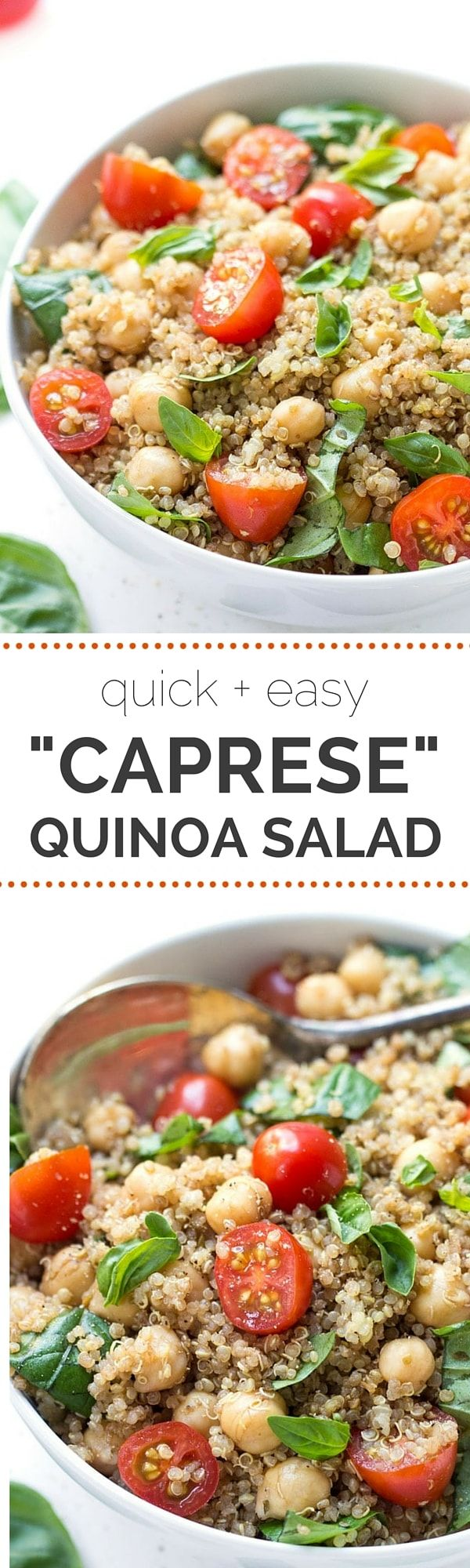 Caprese Quinoa Salad With Tomatoes, Basil And Chickpeas  Recipe On  Simplyquinoa €�