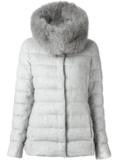 Shop Herno fox fur trimmed jacket in  from the world's best independent boutiques at farfetch.com. Over 1000 designers from 60 boutiques in one website.