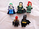 #3: Batman Set of 5 Mini Figures Fit All Lego Playsets Batman Joker Red Hood Ras Al Ghul Poison Ivy