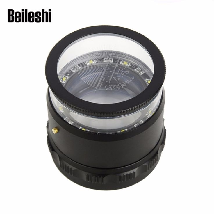 Beileisi HD Magnifier With Led Lights 10X Magnification Loupes Magnifying with Scale Precision Calibration