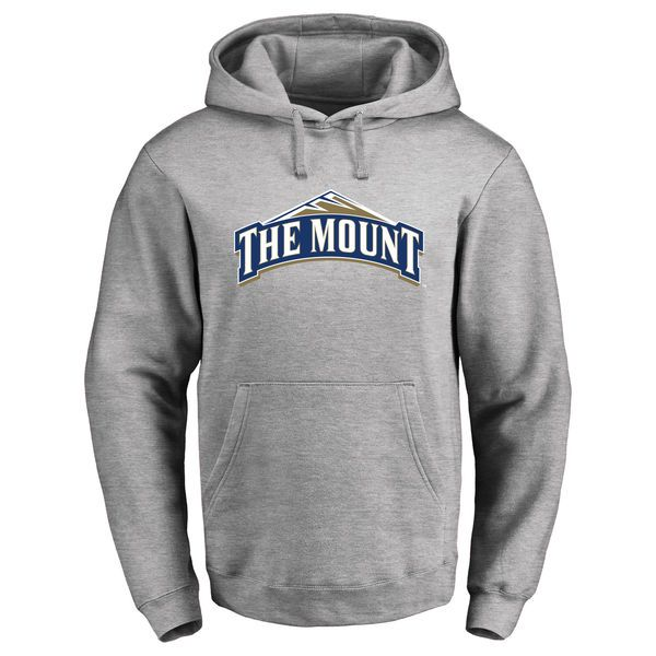 Mount St. Mary's Mountaineers Classic Primary Logo Pullover Hoodie - Ash - $64.99