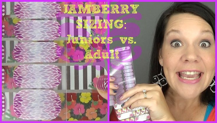 A great comparison of Jamberry Juniors VS. Adult Sizing and what sizes overlap
