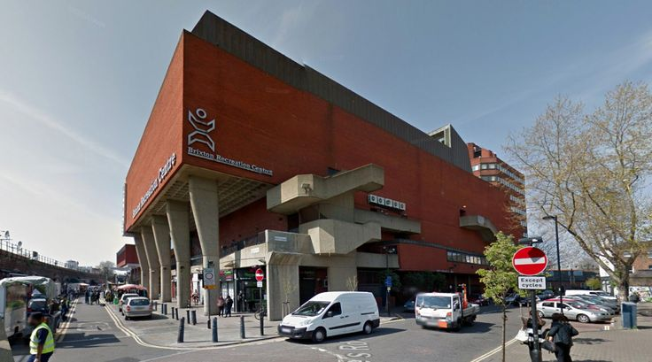 Brixton Recreation Centre - 1971-85 by George Finch - #architecture #googlestreetview #googlemaps #googlestreet #uk #london #brutalism #modernism