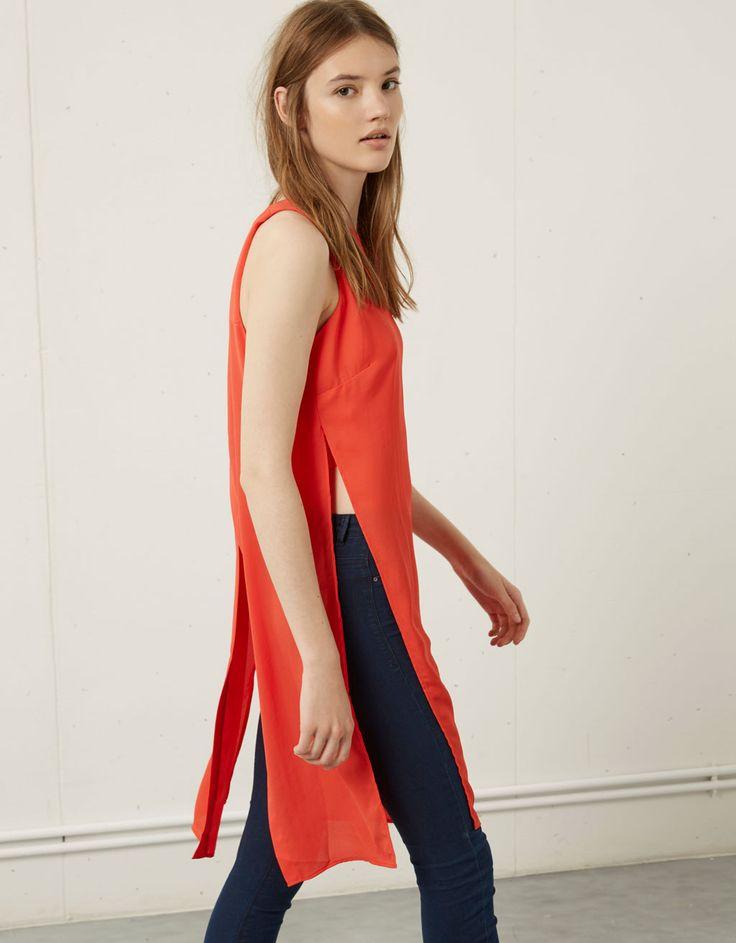 Bershka mexico camiseta larga corte lateral costuras pinterest m xico - Bershka en londres ...